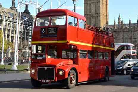 Premium Tours - Child, adult or family ticket to a four hour open top bus tour of London and Thames river cruise - Save 60%