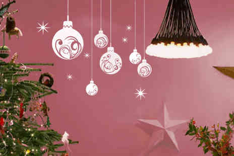 Easy Plants - Christmas bauble wall sticker available in reverse and in 20 colours - Save 89%
