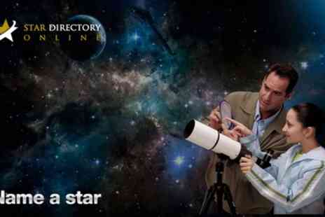 Star Directory Online - Name a star for loved ones and offer a personalised present - Save 59%