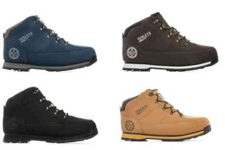 Groupon Goods Global GmbH - Henleys Mens Woodland Boots in a Choice of Colour - Save 33%