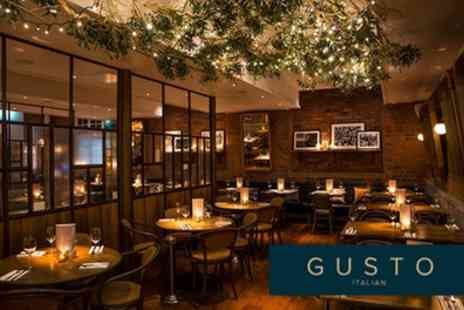 Gusto Italian - Two or Three Course Italian Meal for Two with Optional Glass of Prosecco - Save 29%
