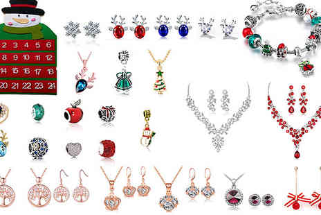 Jaoyeh - Christmas Calendar with 24 Mystery Jewellery Pieces - Save 90%