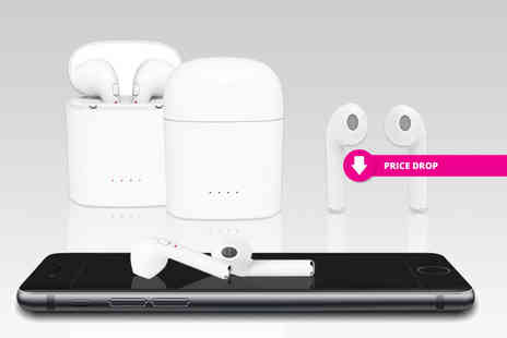Charles Oscar - Pair of Apple compatible wireless earbuds with charging case - Save 83%