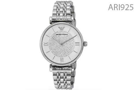 AW Watches - Women's Armani Designer Watches Choose 2 Designs - Save 72%