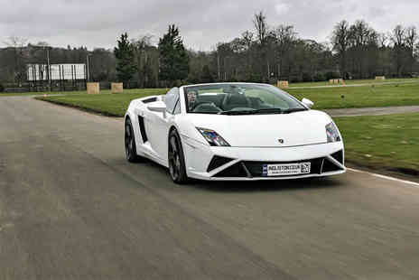 Supercar Drive Days - Three lap Lamborghini supercar driving experience and passenger hot lap - Save 56%