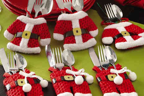 Snap One Up - Set of Santa Claus cutlery socks choose from a 4, 8, 12 or 16 pack - Save 70%