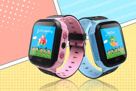 Charles Oscar - Child safety GPS tracker smart watch choose from blue or pink - Save 86%