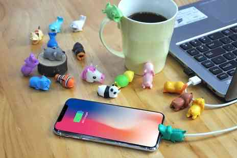 Groupon Goods Global GmbH - Up to 18 Animal Cable Buddies for iPhone and Android Devices - Save 85%