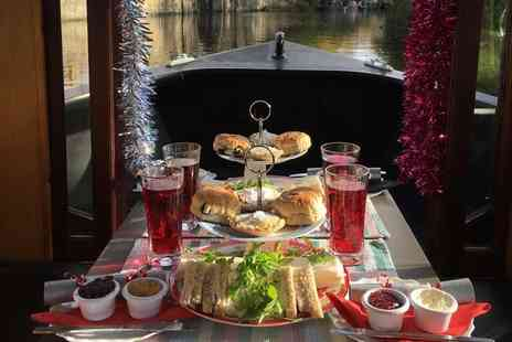 Lancashire Canal Cruises - 90 minute boat cruise for two people including a festive afternoon tea with mulled wine and Christmas cracker each - Save 9%