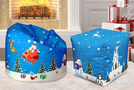 UK Beanbags - Christmas-themed beanbag choose from two designs - Save 68%