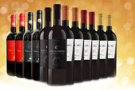 Q Regalo - 12 bottle selection of best D.O Spanish red wine - Save 57%