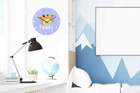 Your Perfect Canvas - Personalised childrens animal wall clock - Save 63%