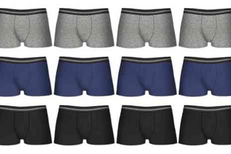 Groupon Goods Global GmbH - 6 or 12 Pack of Modern Fit Mens Boxer Shorts - Save 72%