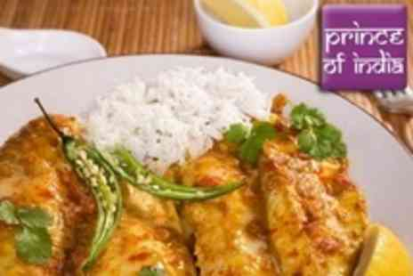 Prince of India - Two Course Indian Meal With Rice For Four - Save 65%