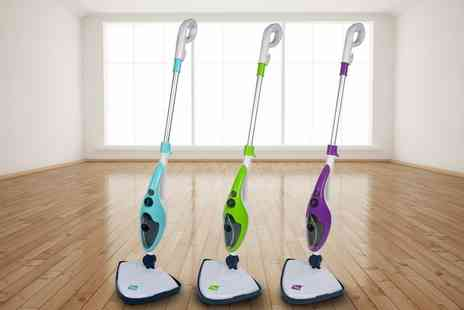 Groupon Goods Global GmbH - Neo Ten in One 1500W Steam Mop Cleaner with 5 Metre Cable and Optional One, Two or Five Extra Pad Packs - Save 74%