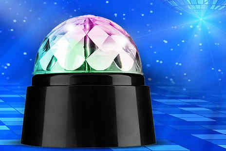 Best mall ever - Rotating Multicoloured Led Disco Light - Save 83%