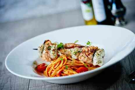 Marcos New York Italian - Two course Italian dining for two people with a glass of wine each - Save 25%