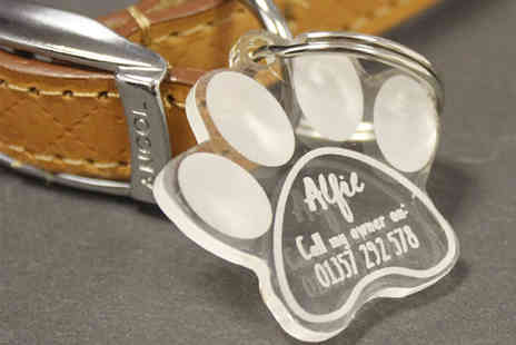 Fill My Space - An engraved pet tag - Save 56%