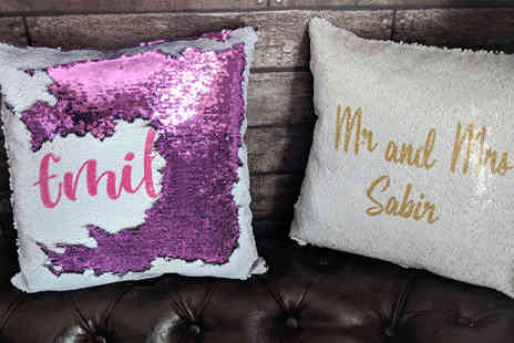 Your Perfect Canvas - Personalised sequin cushion - Save 60%