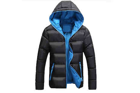 Blu Apparel - Mens Lined Contrast Padded Jacket Available in 4 Colours - Save 46%