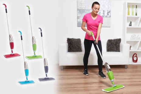 Black Feather - Spray mop with microfibre pads choose from four colours - Save 67%