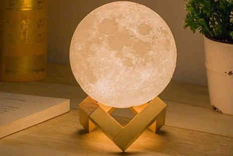Yello Goods - Touch Control 3D Moon Lamp Adjustable Brightness - Save 86%