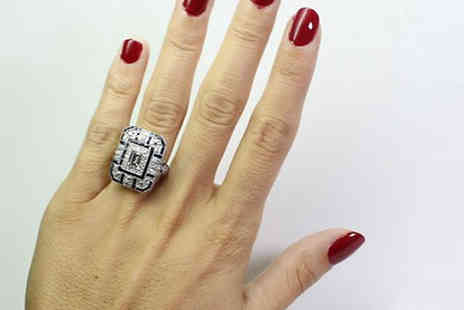 Taylors Jewellery - Large Vintage Simulated Crystal Ring Choose 4 Sizes - Save 78%