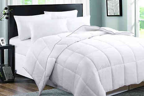 Direct Warehouse - Padded Goose Feather Down All Season Duvet Choose 4 Sizes - Save 60%