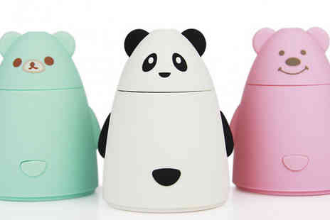 Good 2 Items - Bear Shaped Portable Usb Humidifier Choose from 3 Colours - Save 23%