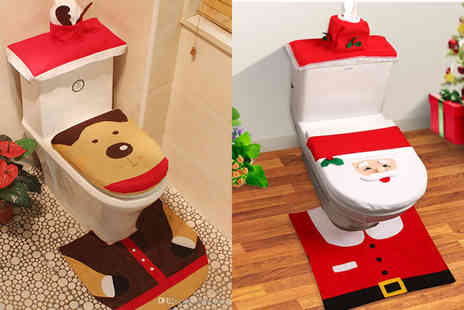 Snap One Up - 3 piece bathroom Christmas decoration set - Save 76%