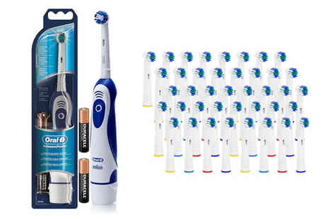 Vivo Mounts - An OralB Advance Power toothbrush with 41 brush heads - Save 57%