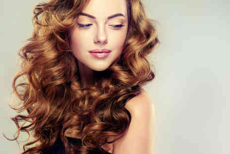 Hair Beautique - Balayage or ombre highlights, cut, Osmo conditioning treatment and blowdry with a mince pie and glass of bubbly - Save 75%