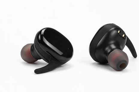 Good2items - Wireless Binaural Bluetooth Headset in 2 Colours - Save 78%