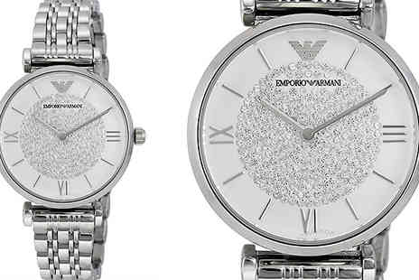 AW Watches - Emporio Armani Ladies AR1925 Silver Stainless Steel Watch With Free Delivery - Save 52%