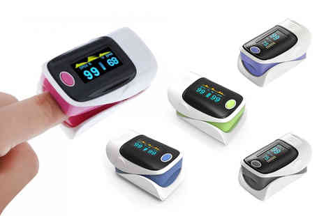 Wow What Who - Clip on fingertip heart rate monitor choose from five colours - Save 86%
