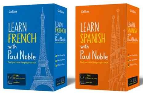 Groupon Goods Global GmbH - Harper Collins Learn French or Spanish with Paul Noble Audio Language Course - Save 35%