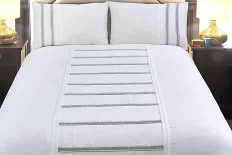 Groupon Goods Global GmbH - Elizabeth Jayne Embellished Duvet Set - Save 0%