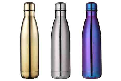 Groupon Goods Global GmbH - Milestone Double-Walled Stainless Steel 500ml Water Bottle - Save 65%