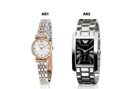 Brand Arena - Emporio Armani ladies watch choose between two designs - Save 74%