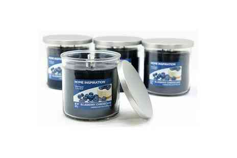 Yankee Bundles - Set of four Yankee Candle blueberry cheesecake twin wick tumbler candles - Save 53%