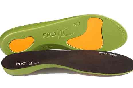 Groupon Goods Global GmbH - One or Two Pairs of Pro 11 Wellbeing Worx Series Orthotic Insoles - Save 70%