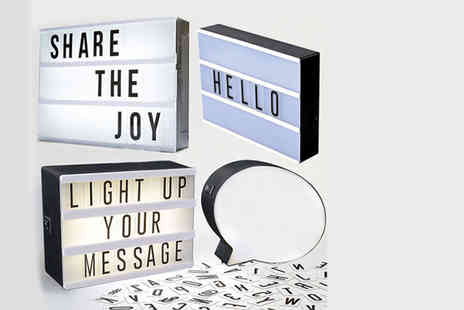 Direct 2 public - An Led message light box - Save 83%