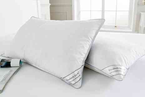 Groupon Goods Global GmbH - Two, Four or Eight Goose Feather and Down Filled Pillows - Save 82%
