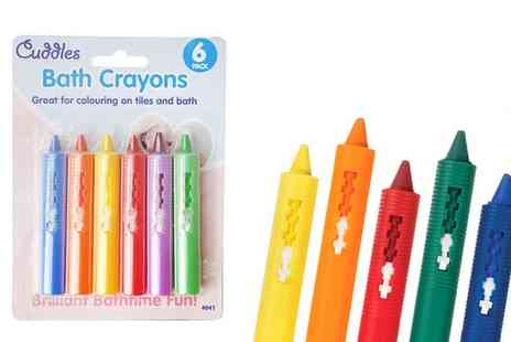 Groupon Goods Global GmbH - Non Toxic Baby Bathroom Crayons - Save 80%