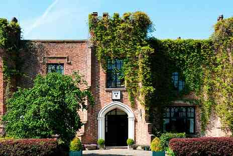 Crabwall Manor Hotel - Afternoon tea for 2 at 17th century Cheshire manor - Save 40%