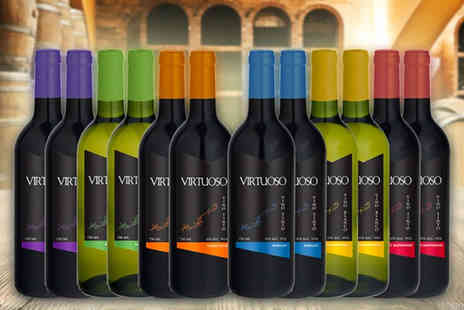 Q Regalo - 12 bottles of Spanish wine includes 6 varieties of red and white wine - Save 0%