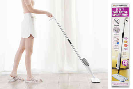 Direct 2 public - 5 in 1 twin bottle spray mop - Save 70%