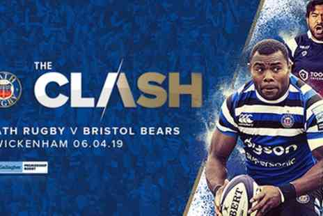 Bath Rugby - Ticket to The Clash Bath Rugby v Bristol Bears on 6 April - Save 50%