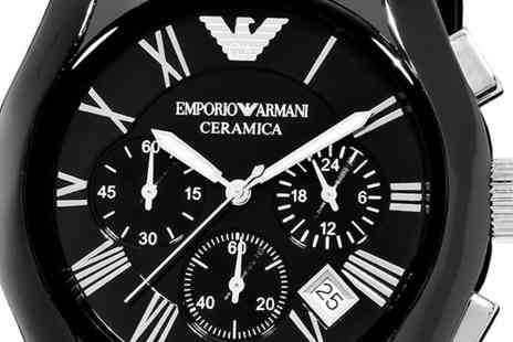 AW Watches - Mens Emporio Armani Ceramica Watch Choose from 2 Models - Save 78%