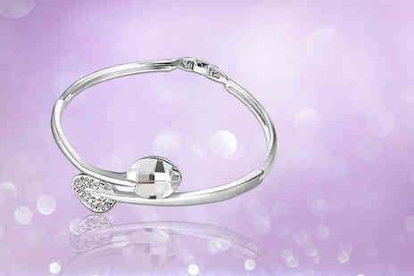 Evoked Design - Wraparound crystal petal bangle - Save 90%